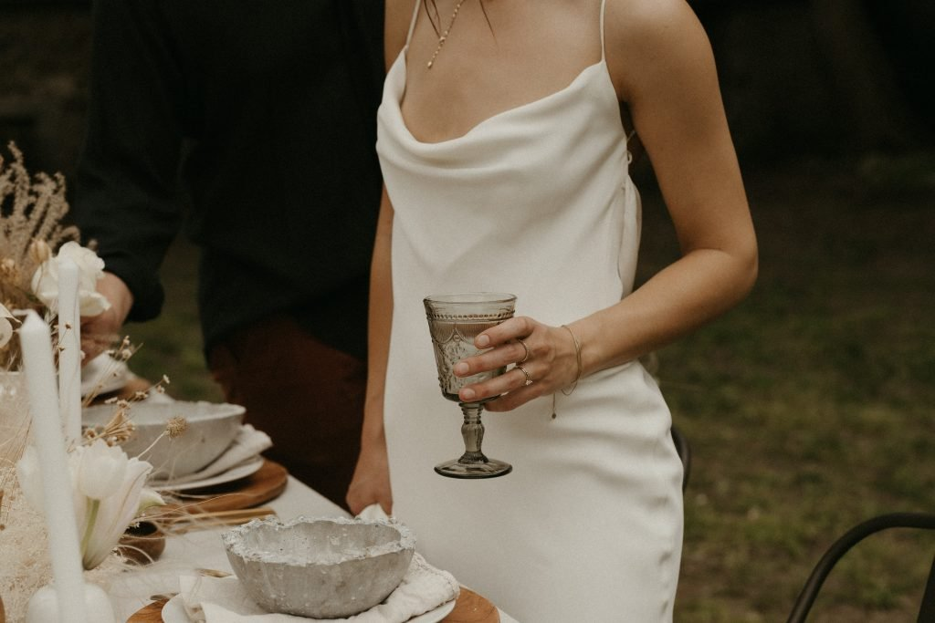Timeless bridal look - Alexandra Grecco Lotus Gown