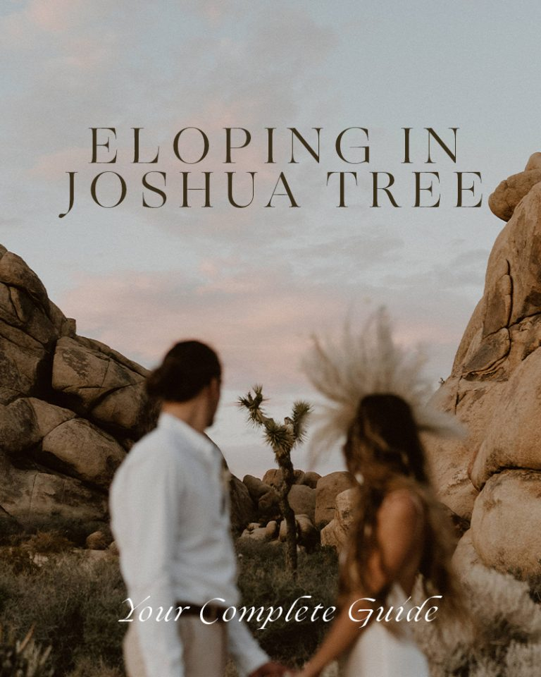 How to Guide for Eloping in Joshua Tree National Park